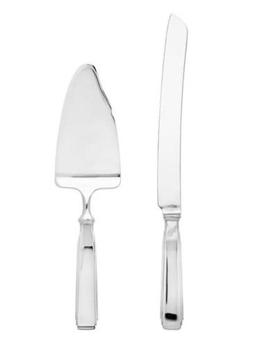 Ricci Art Deco 2 Piece Cake Knife And Server
