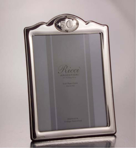 "Ricci Anniversary 50Th Anniversary 8"" X 10"" Sterling Silver Picture Frame"