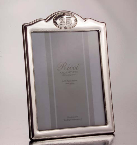 "Ricci Anniversary 25Th Anniversary 8"" X 10"" Sterling Silver Picture Frame"