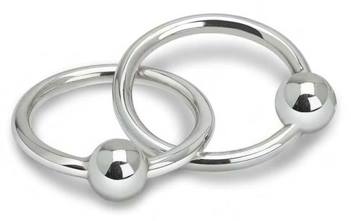 Cunill 2 Ring Ball Rattle - Sterling Silver