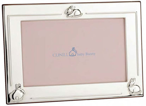 Cunill 3 Bunnies 4 x 6 Inch Picture Frame - Sterling Silver