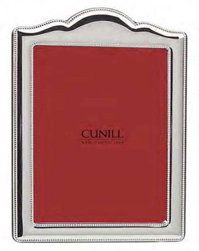 Cunill Arch Bead 5 x 7 Inch Picture Frame - Silverplated