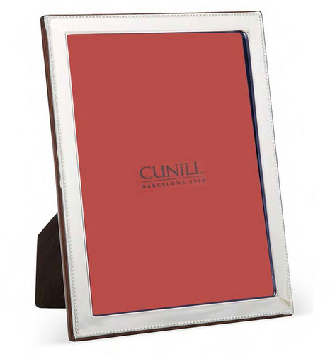 Cunill Bead Bevel 8 x 10 Inch Picture Frame - Sterling Silver