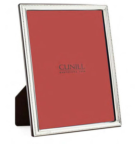 Cunill Bead Profile 5 x 7 Inch Picture Frame - Sterling Silver