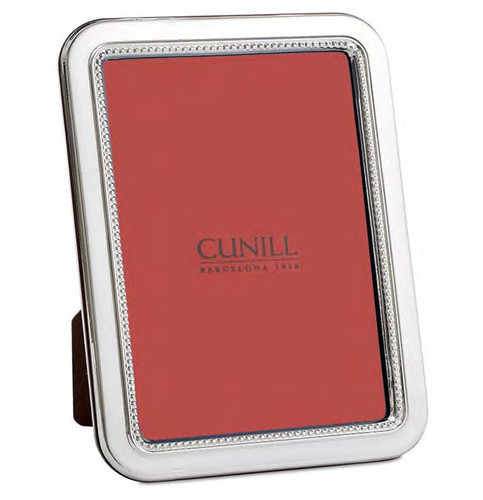 Cunill Bead Rounded Corners 5 x 7 Inch Picture Frame - Sterling Silver