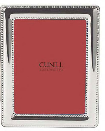 Cunill Beaded 8 x 10 Inch Picture Frame - Silverplated
