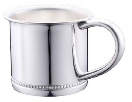 Cunill Beaded Baby Cup - Silverplated