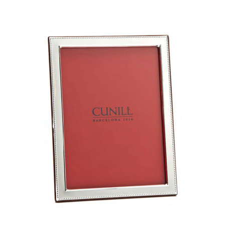 Cunill Beaded Flat 5 x 7 Inch Picture Frame - Sterling Silver