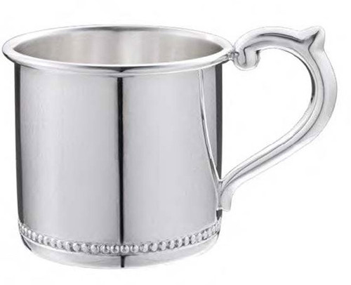 Cunill Beaded Sterling Baby Cup H: 2 1/8 Inch x Dia: 2 3/8 Inch - Sterling Silver
