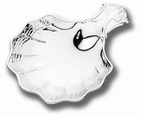 Cunill Cadaques Waves Baptismal Shell - Silverplated