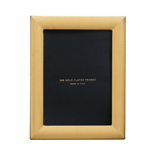 Cunill Cleo 4 x 6 Inch Picture Frame - 24k Gold Plated 0.5 Microns