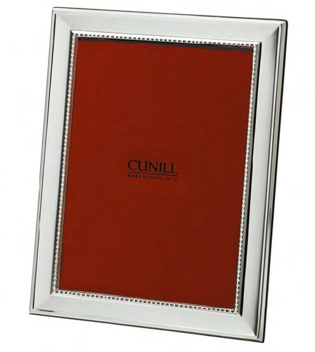 Cunill Grooves 5 x 7 Inch Picture Frame - Silverplated