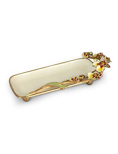 Jay Strongwater Ellen Flora Orchid Tray