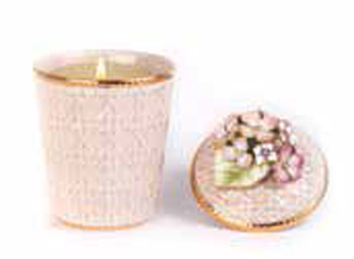 Jay Strongwater Riley Flora Hydrangea Candle