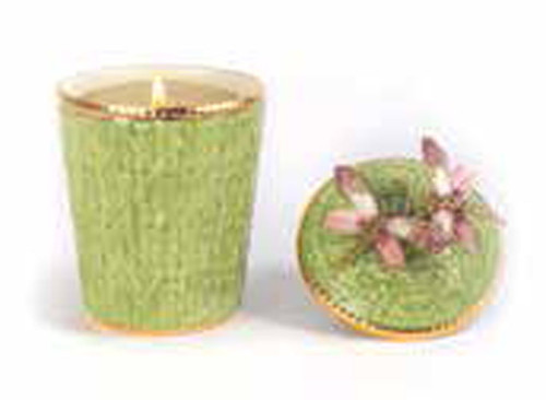Jay Strongwater Ivy Rose Celadon Dragonfly Candle MPN: SDH6609-272