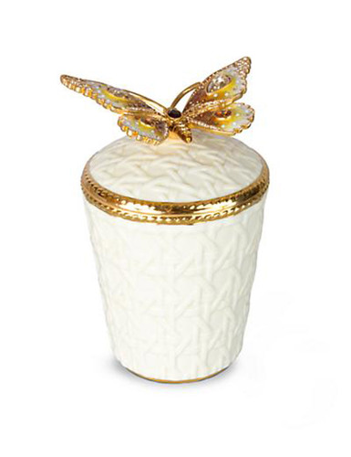 Jay Strongwater Bridget Golden Butterfly Candle