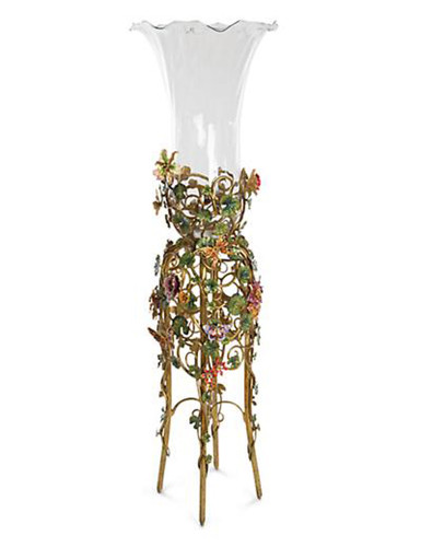 Jay Strongwater Madden Jewel Floral Standing Vase
