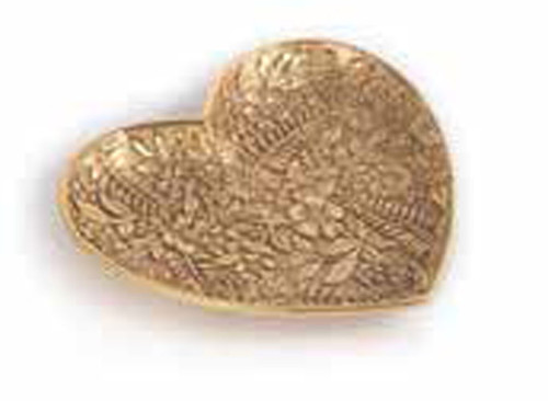 Jay Strongwater Colleen Gold Floral Heart Trinket Tray