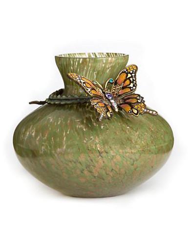 Jay Strongwater Lorelei Flora Butterfly Vase