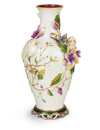 Jay Strongwater Cosette Flora Magnolia Vase