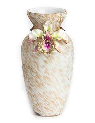Jay Strongwater Loretta Flora Orchid Vase