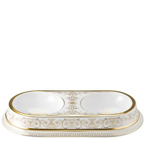 Versace Medusa Gala Double Pet Bowl, MPN: 14096-403635-25475, UPC: 790955988354