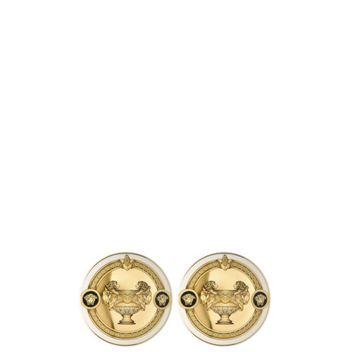 Versace Prestige Gala Coasters Porcelain Set of Two