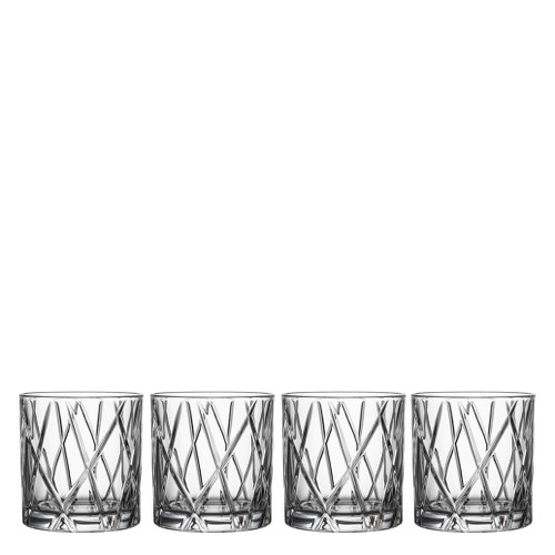 Orrefors City Dof Double Old Fashioned Set Of 4