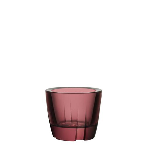 Kosta Boda Bruk Votive Anything Bowl Aubergine Purple