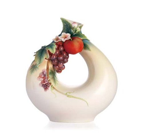 Franz Porcelain Vase Grape & Apple FZ02861