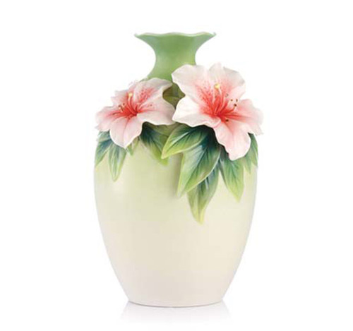Franz Porcelain Vase Blooms Of Delight Azalea FZ03136