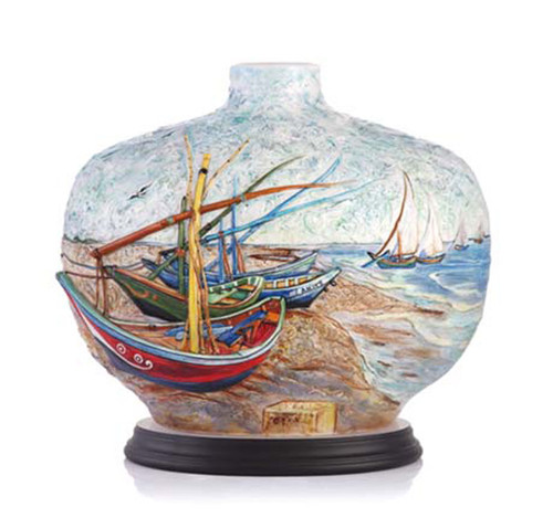 Franz Porcelain Vase Van Gogh Sailing Limited Edition FZ03289