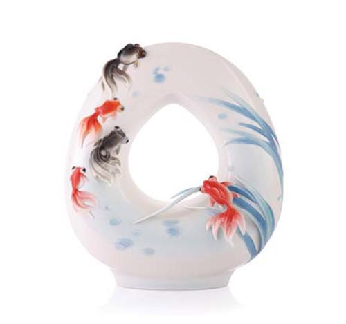 Franz Porcelain Vase Goldfish FZ03350