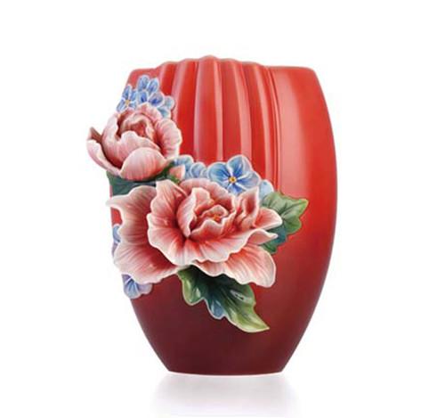 Franz Porcelain Vase Hibiscus FZ03355