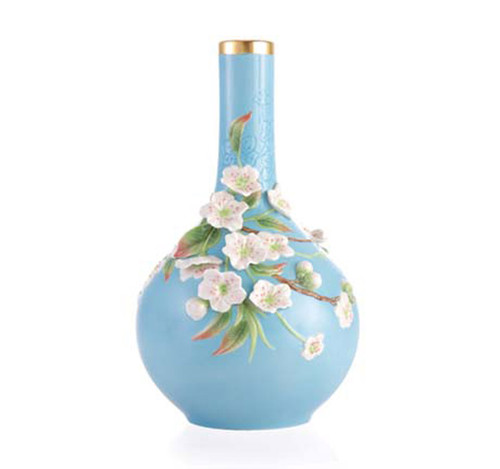 Franz Porcelain Vase Pear Flower Limited Edition FZ03368