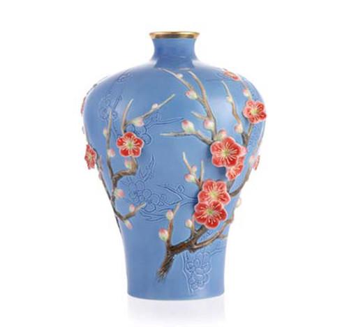 Franz Porcelain Vase Plum Blossom Limited Edition FZ03369