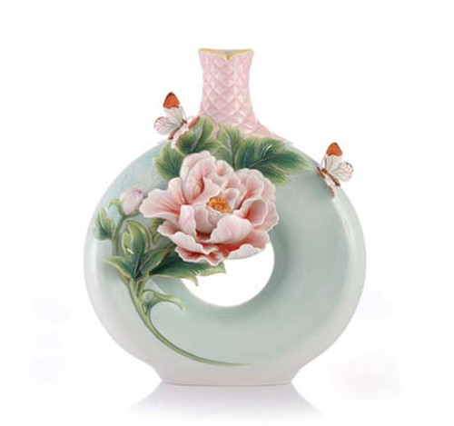 Franz Porcelain Vase Peony FZ03418