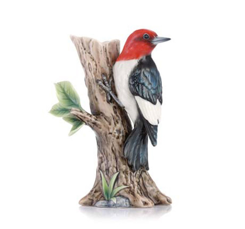 Franz Porcelain Vase Woodpecker FZ03436