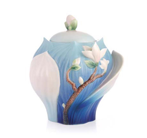 Franz Porcelain Sugar Jar Magnolia FZ03488