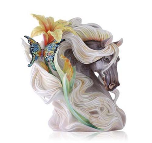 Franz Porcelain Vase Paean Horse Limited Edition FZ03521