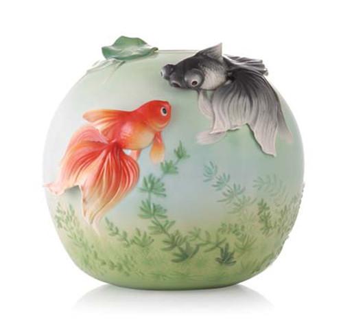 Franz Porcelain Vase Goldfish FZ03530