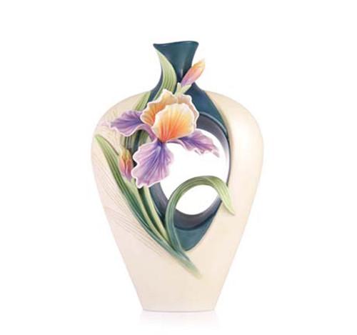 Franz Porcelain Vase Iris FZ03544