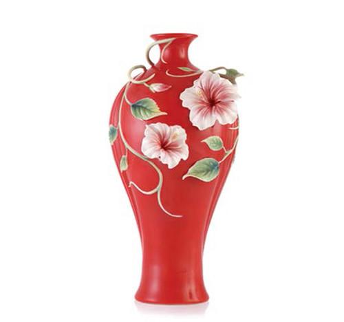 Franz Porcelain Vase Hibiscus FZ03594