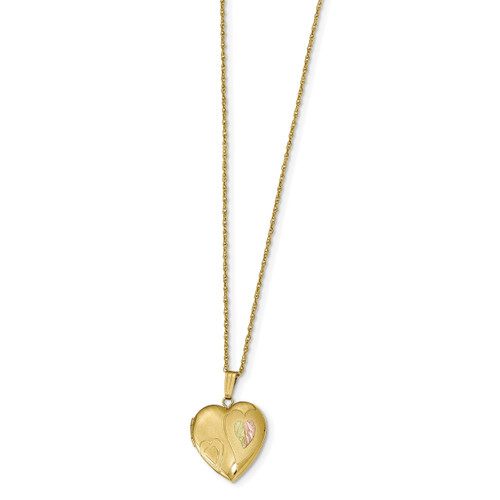 Black Hills Locket 14k Gold-filled with 12k Gold Accents 10BH678-18
