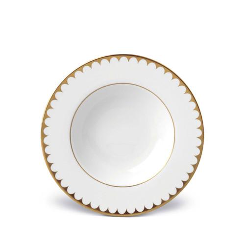 L'Objet Aegean Filet Soup Plate Gold
