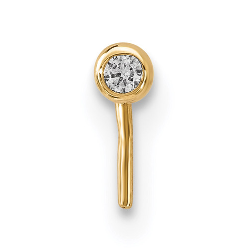 2.2mm CZ Nose Stud 14k Gold BD106