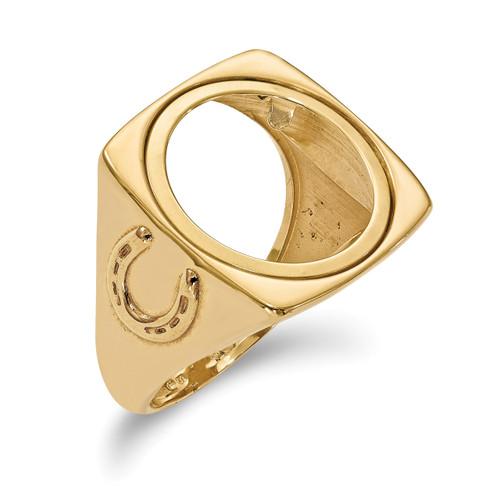 1/10AE Diamond -cut Coin Ring 14k Gold CR7D/10AE