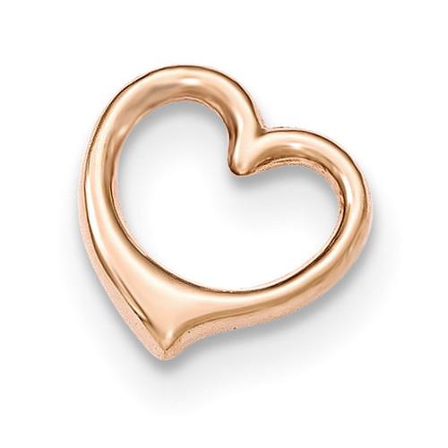 3-D Floating Heart Chain Slide 14k Rose Gold K5155