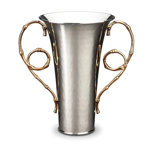 L'Objet Evoca Large Vase 24k Gold-Plated