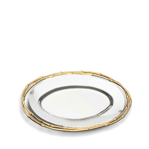 L'Objet Evoca Oval Platter Medium 24k Gold-Plated